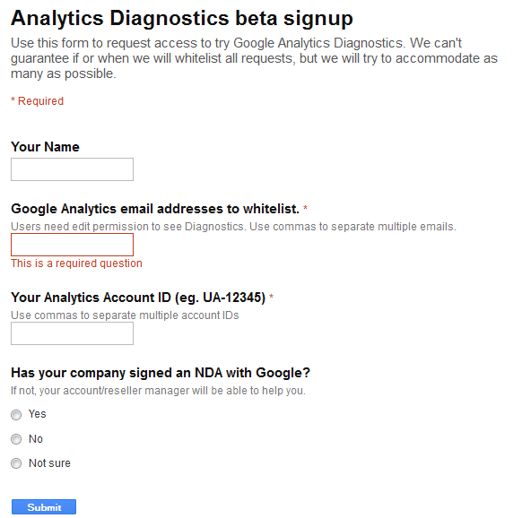Google Analytics Diagnostic Tool to Improve Data Quality